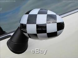 Mini One Cooper R55 Clubman R56 R57 R58 R60 Countryman Coques Rétroviseur Èchecs