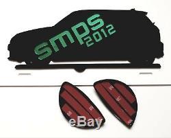 Mini R56, R57, R58, R59 avant & Arrière Léger Housses Super Noir Mat 2006