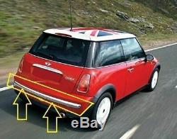 Mini oem Cooper R50 (01 04/07) Pare-chocs arrière garniture CHROME