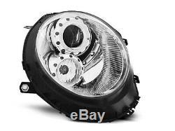NEUF! Projecteurs MINI COOPER R55 R56 R57 R58 R59 2006-2014 Angel Eyes Chrome FR