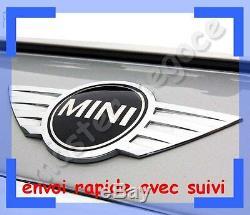 NEUF logo embleme Chromé MINI ONE COOPER MÉTALLIQUE CAPOT COFFRE envoi suivie