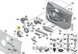 Neuf Véritable Mini F55 avant Gauche Droit Harman Kardon Noir Haut-Parleur Set