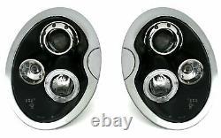 OFFER Pair Headlights pour BMW pour Mini COOPER R50 R52 R53 01-06 Halo Rims Blac