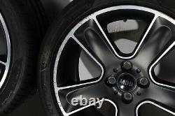Roues Complètes D'Ete R111 Noir Étoile Balle 17 Pouces Mini R50 R52 R53 R55 R56