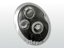 Scheinwerfer für BMW MINI COOPER R50 R52 R53 2001-2006 Standlichtringen Schwarz