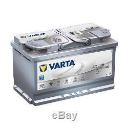 Varta F21 Argent Dynamique AGM 580 901 080 Batterie de Voiture 80Ah Prêt à